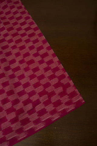 Dark Purple Checks Ikat Fabric