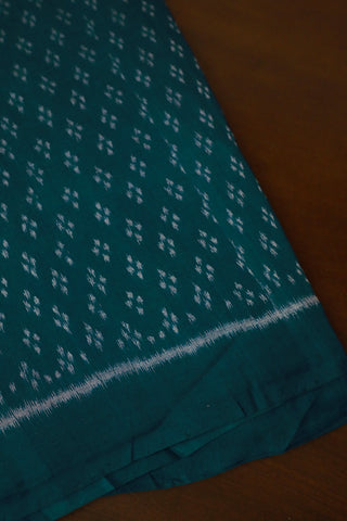 Peacock Blue Orissa Ikat Cotton Fabric