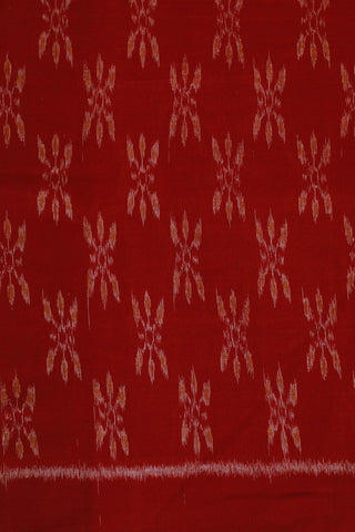 Red with Yellow Orissa Ikat Cotton Fabric