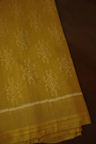 Light Yellow with Cream Ikat Cotton Fabric