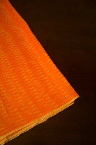 Orangish Yellow Ikat Fabric