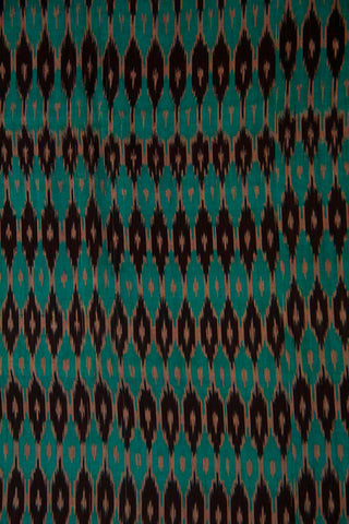 Blue with Black Mercerized Cotton Ikat Fabric