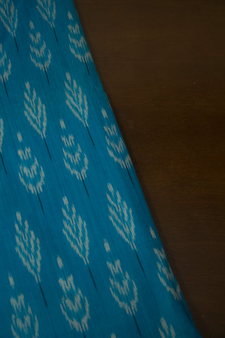 Ramar Blue Handwoven Ikat Fabric