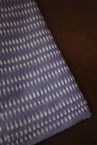 Greyish Blue Mercerized Ikat Cotton Fabric