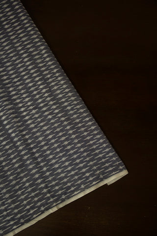 Grey Mercerized Ikat Cotton Fabric