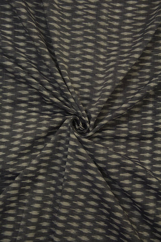 Grey Mercerized Ikat Cotton Fabric - 1.3m