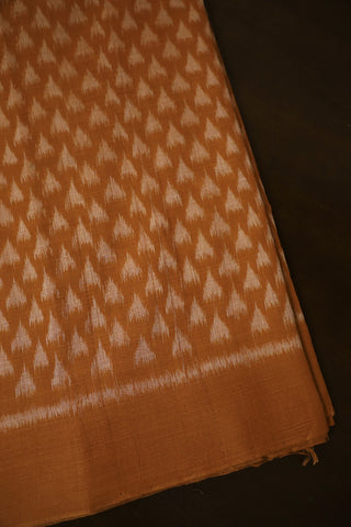 Small Triangles in Brown Orissa Ikat Cotton Fabric