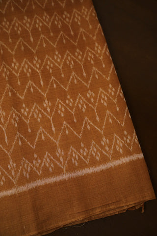 Biscuit  Brown Orissa Ikat Cotton Fabric
