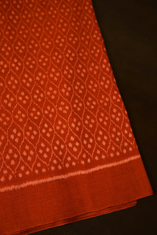 Bright Double shade Orange Orissa Ikat Cotton Fabric