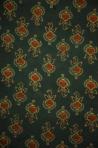 Green Ajrak Cotton Fabric