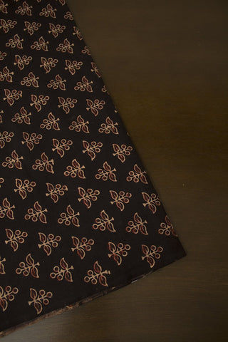 Black with Maroon - Block Printed Ajrak fabric