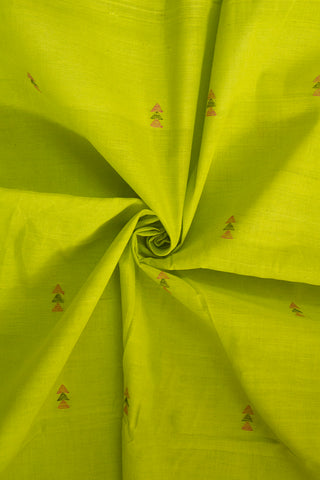 Neon Green Handwoven Khadi Cotton Fabric