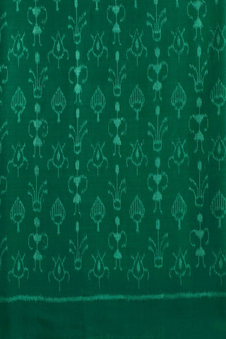 Blueish Green Orissa Ikat Cotton Fabric