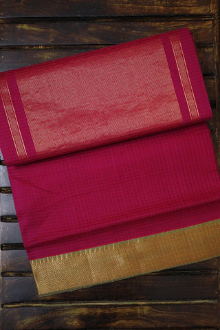 Pinkish Purple with Temple Border Mangalagiri Cotton Saree