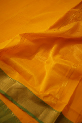Mango Yellow with Green Handwoven Mangalagiri Cotton Saree
