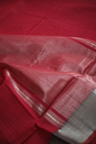 Silver Zari Temple Border Mangalagiri Cotton Saree