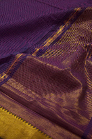 Double shade Purple Missing Checks Mangalagiri Cotton Saree