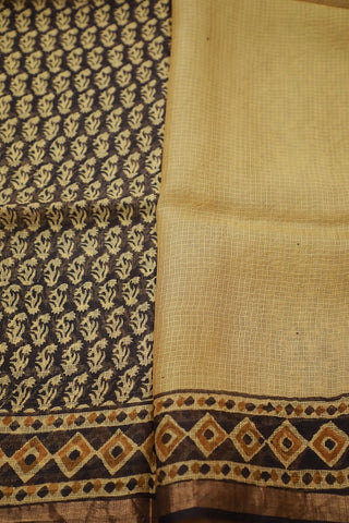 Block Printed Saree-Matkatus