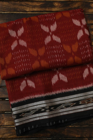 Brown with Black Handwoven Orissa Ikat Saree