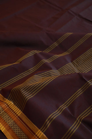 Double Shade Thread Border Kanchi Cotton Saree