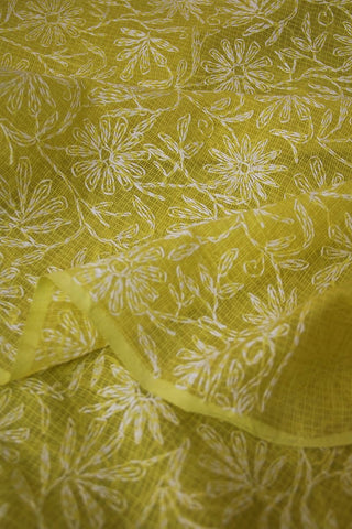 Hand Embroidery Chikan Work Kota Saree