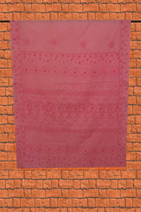 Light Pink Shadow work Chikankari Cotton Saree with Blouse