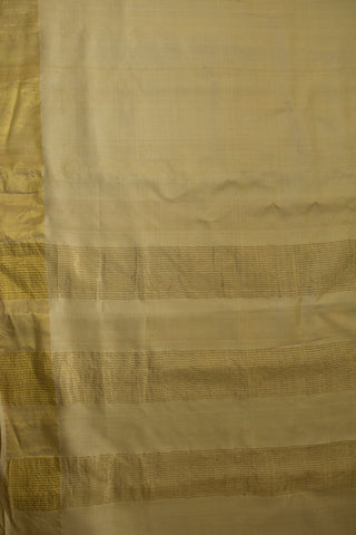 Off White with Zari Lines Tussar Silk Saree