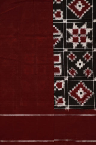 Distinct Motifs Telia Rumal Ikat Cotton Saree