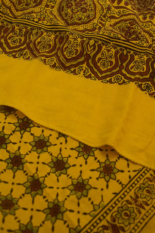 Yellow Stars Cotton Stole