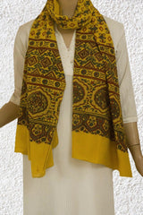 Yellow Cotton Stole