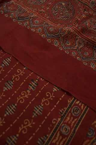 Diamond shape Ajrak Cotton Stole