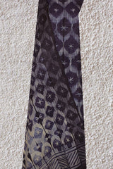 Dark Violet Tussar silk Shibori Top and Dupatta