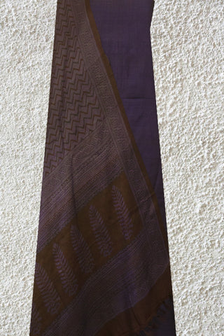 Shades of Purple Tussar Silk Top and Dupatta