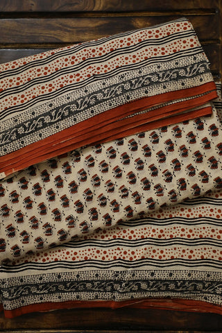 Butterfly Bagru Block Printed Mul Cotton Suit