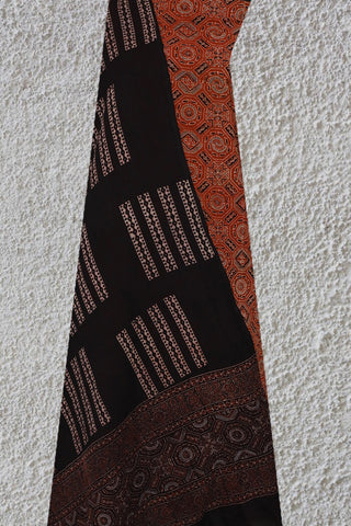Maroon Ajrak Full Suit