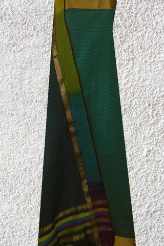 Handwoven Silk cotton Maheshwari Top & Dupatta (2.2 m Top)