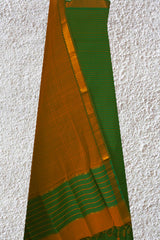 Green Stripes Handwoven Mangalagiri Cotton Suit