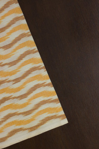 Brown and yellow - hand woven Ikat Fabric