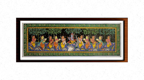 Kalinga Narthanam - Pattachitra Hand Painted Wall hanging
