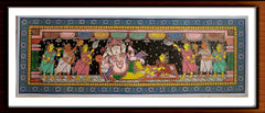 Sayana Vinayagar - Pattachitra Hand Painted Wall hanging