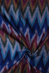 Shades of blue - Handwoven Ikat Fabric
