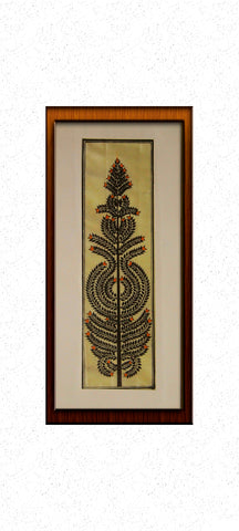 Tree of Life in black - Pattachitra Hand Painted Wall hanging