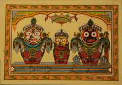Lord Puri Jagannath - Pattachitra Hand Painted Wall hanging
