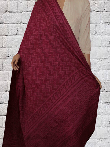 Dark Purple Tussar Silk Dupatta