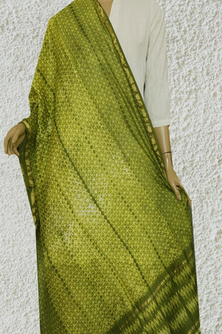 Green 'Starified' - Shibori Chanderi Silk Dupatta