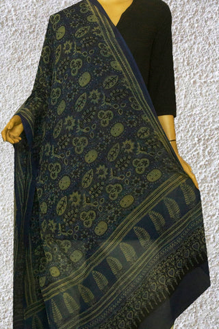 Blue with Intricate Design  Kota Dongria Cotton Dupatta