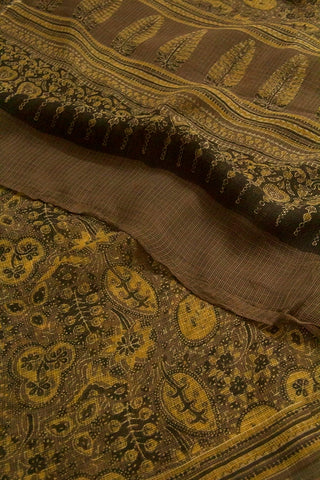 Grey with Yellow Kota Dongria Cotton Dupatta