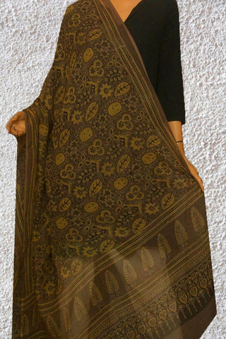 Grey with Yellow Kota Dongriya Cotton Dupatta