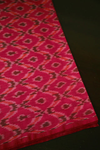 Rose Ikat Silk Cotton Fabric