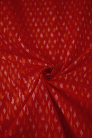 Red Ikat Silk Cotton Fabric